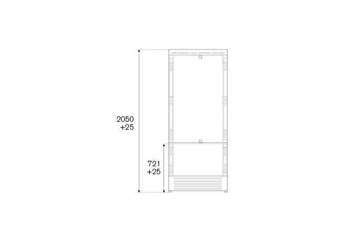 90cm Built-In Bottom Mount, Panel Ready Right hinges | Bertazzoni