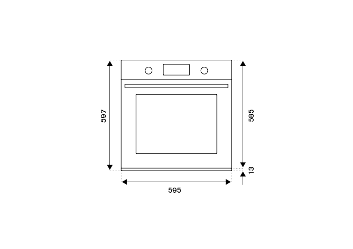 60cm Gas Built-in Oven 5 functions | Bertazzoni