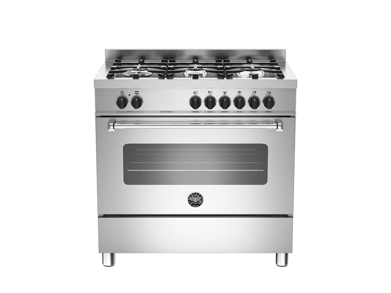 90 cm 6-burner electric oven | Bertazzoni - Stainless Steel