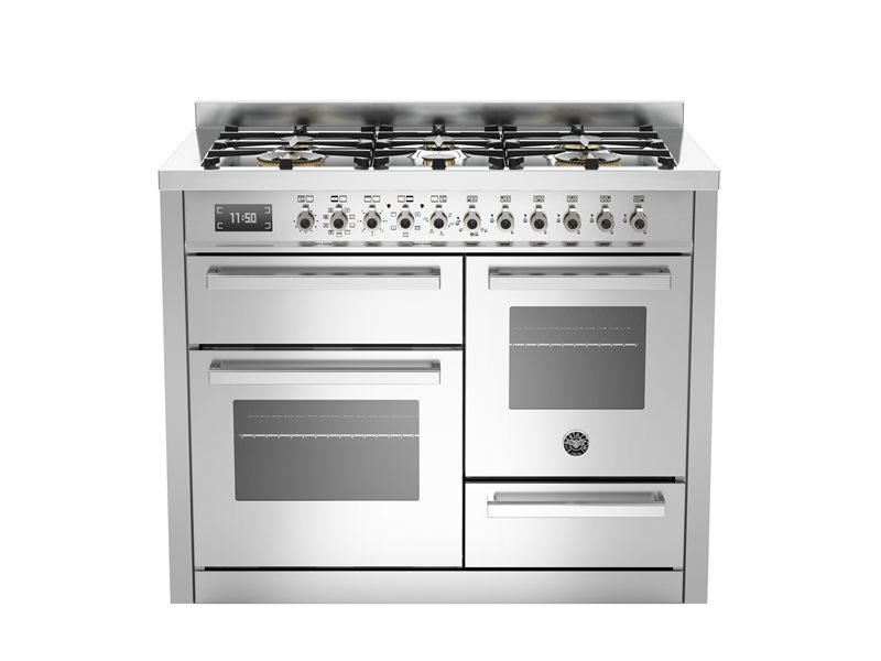 110 cm 6-burner electric triple oven | Bertazzoni - Stainless Steel
