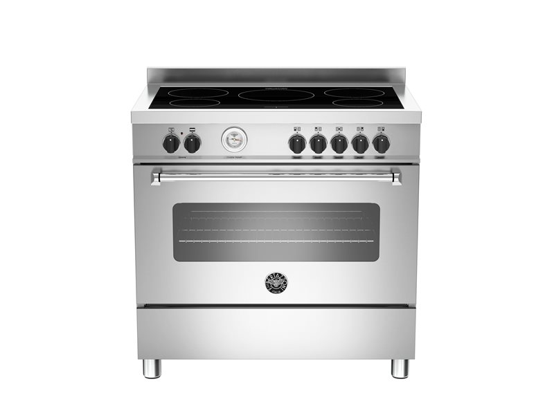 90cm 5 induction top electric oven | Bertazzoni - Stainless Steel