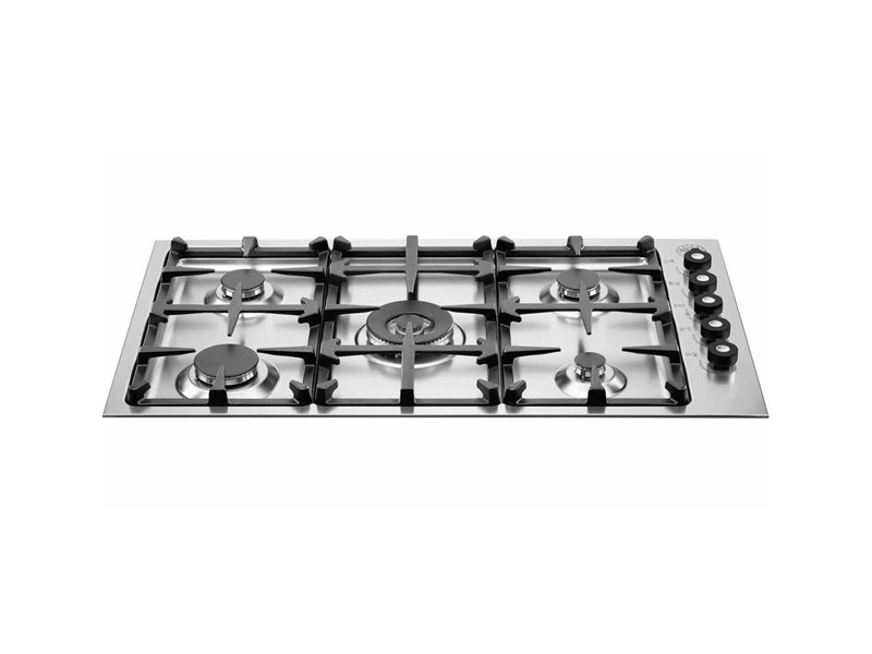 92cm drop-in low edge hob, 5 burner | Bertazzoni - Stainless Steel