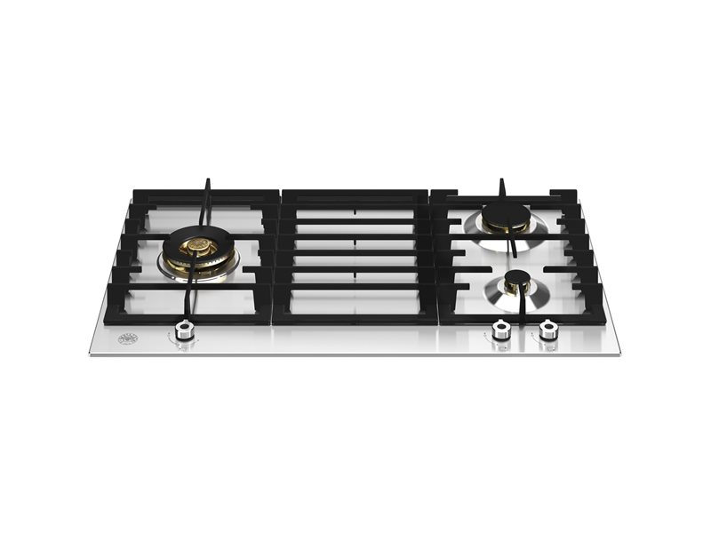 90 cm Gas hob, 3 burners | Bertazzoni - Stainless Steel