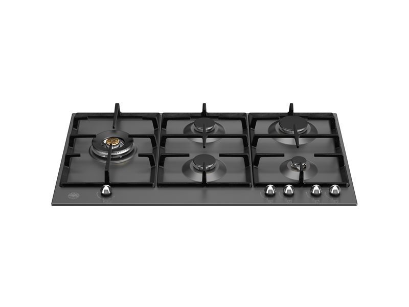 75 cm Gas hob with lateral dual wok | Bertazzoni - Matt Black