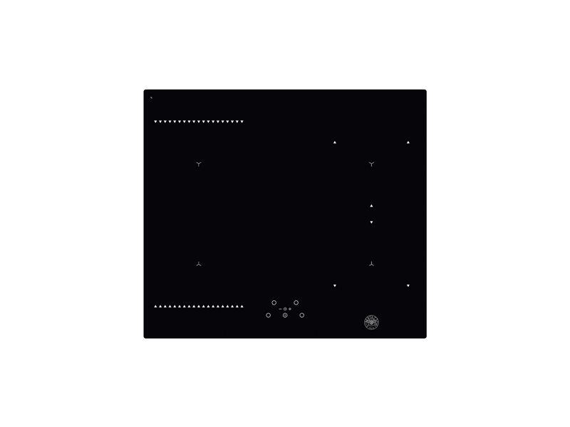60cm induction hob, 4 cooking zones and 1 bridge | Bertazzoni - Nero
