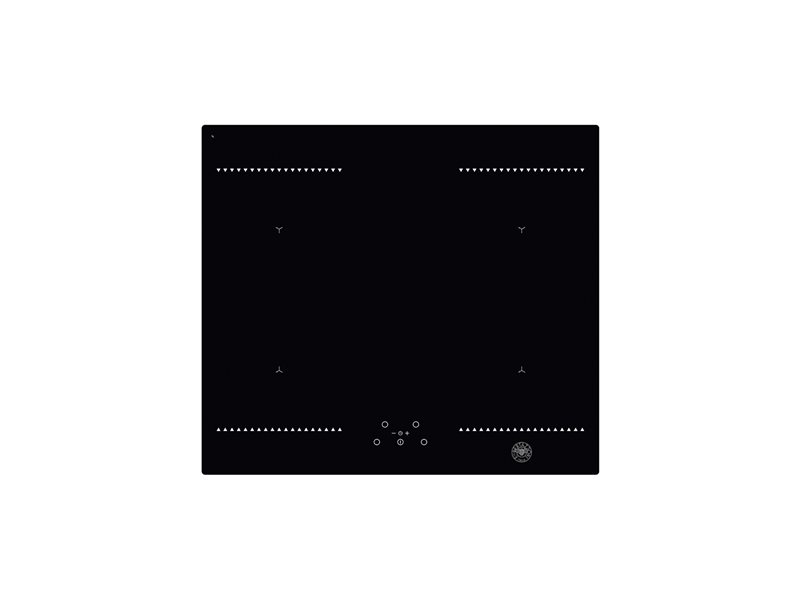 60cm induction hob, 4 cooking zones and  2 bridge | Bertazzoni - Nero