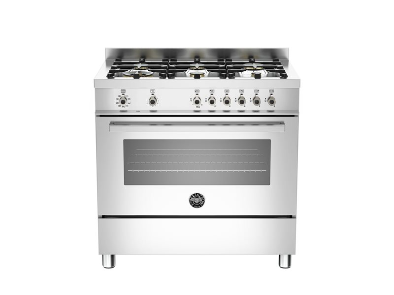 90 cm 6-Burners, Electric Oven | Bertazzoni - Stainless Steel