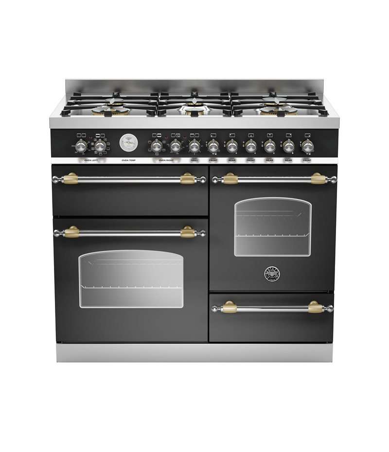100 cm 6-burner electric triple oven | Bertazzoni - Nero Matt