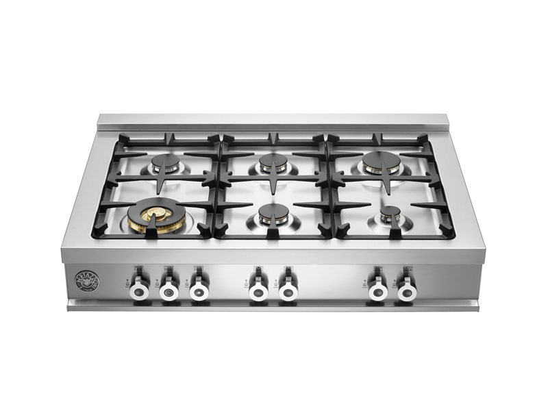 92 cm Range Top 6-Burner | Bertazzoni - Stainless