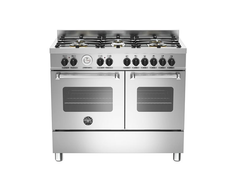 100 cm 6-burner electric double oven | Bertazzoni - Stainless Steel