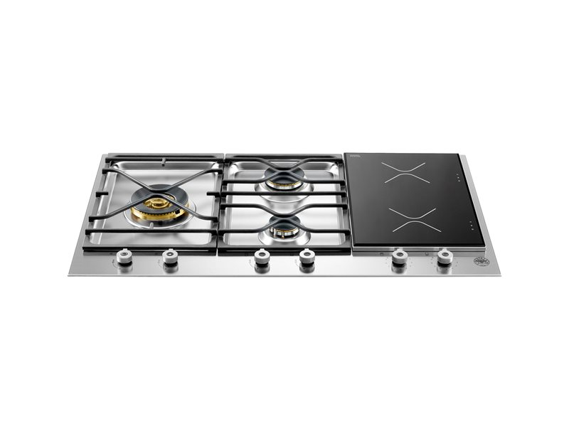 90 3-Segment 3-Burner Gas/Induction hob | Bertazzoni - Stainless Steel