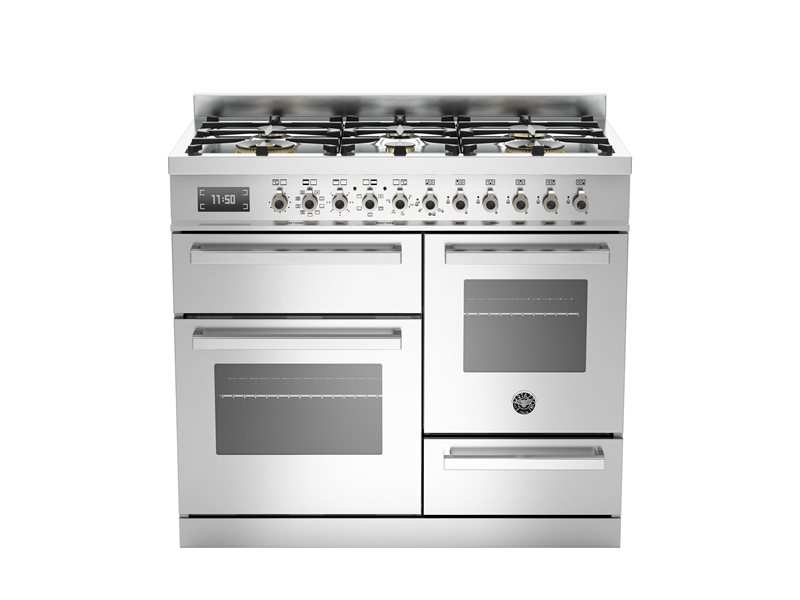 100 cm 6 burner electric triple oven | Bertazzoni - Stainless Steel