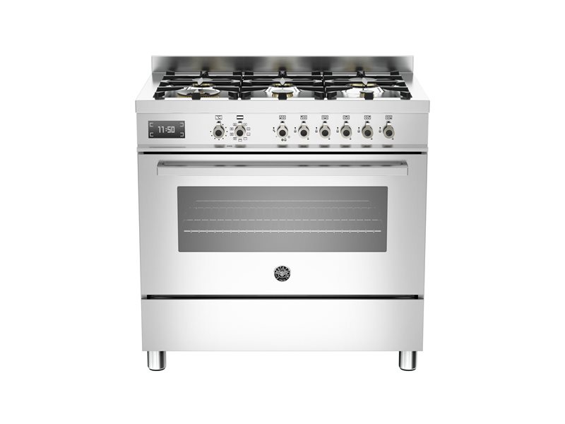 90 cm 6-Burner, Electric Oven | Bertazzoni - Stainless