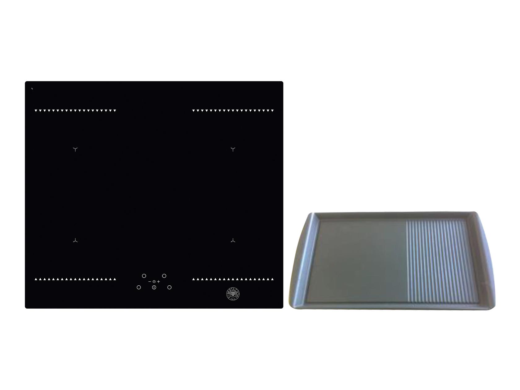 60cm Induction Hob, 4 Cooking Zones And 1 Bridge + Grill | Bertazzoni   Nero