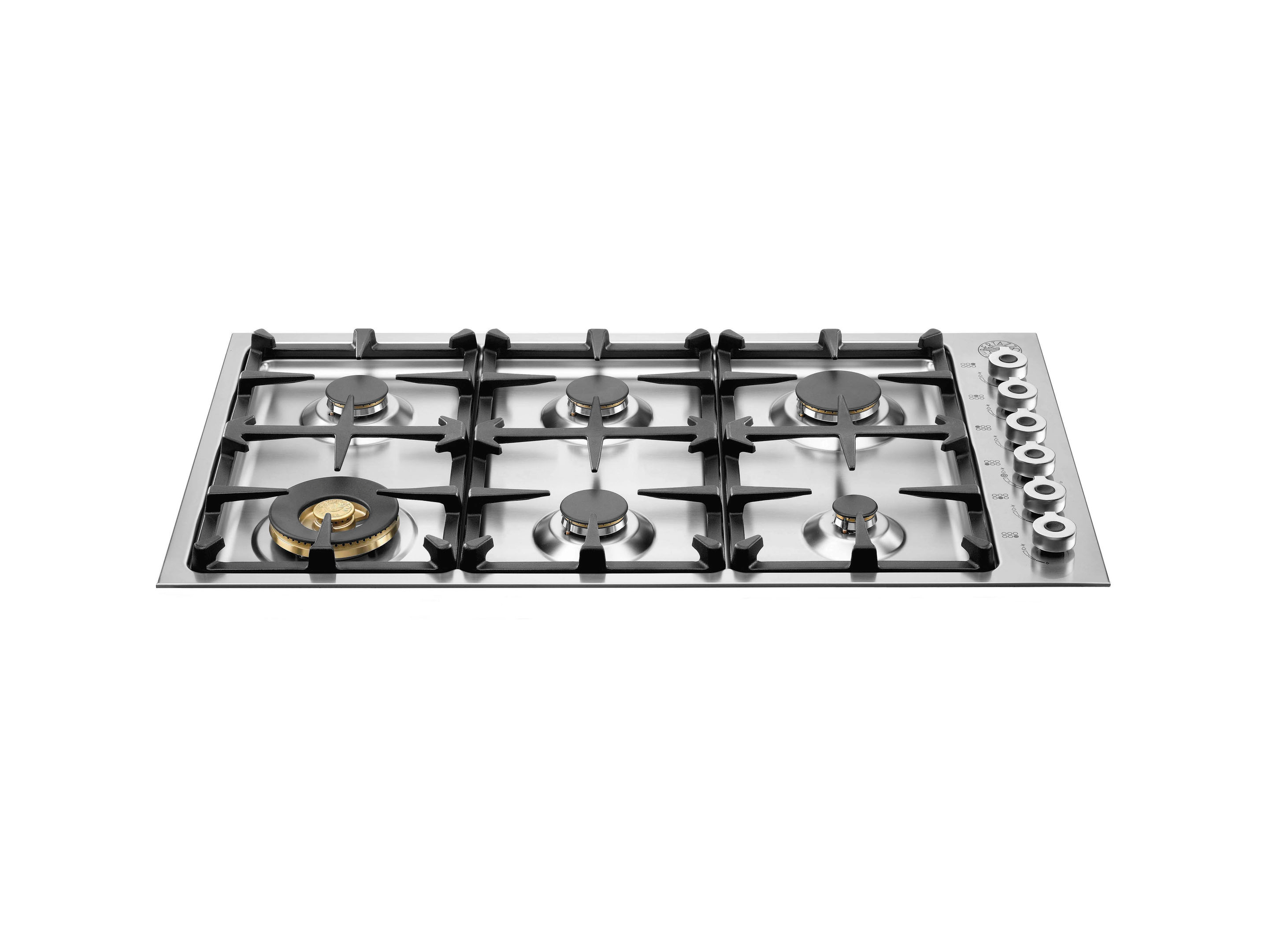 92 6-burner hob, low edge 4mm | Bertazzoni - Stainless