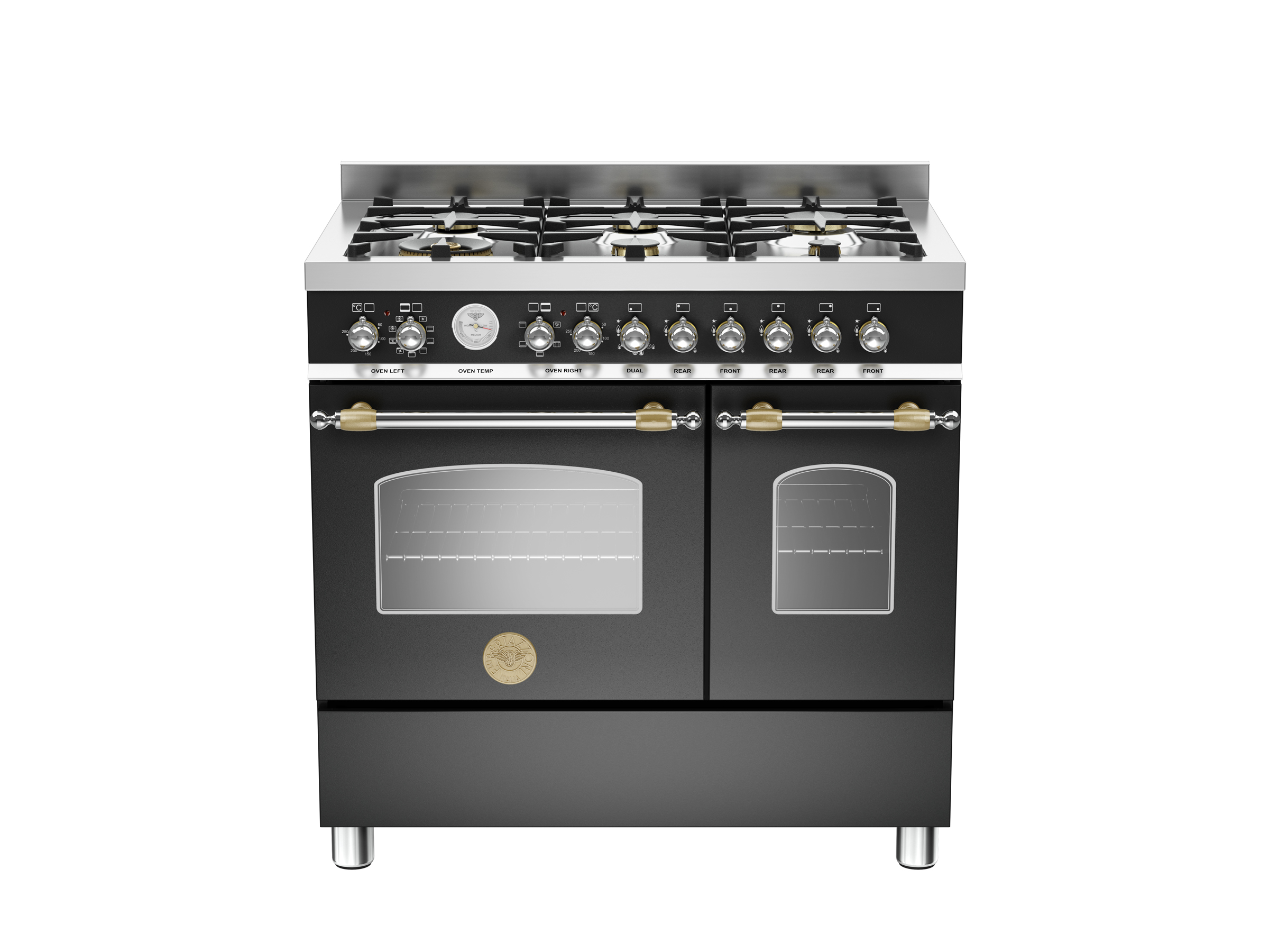 90 cm 6-burner electric double oven  | Bertazzoni - Matt Black