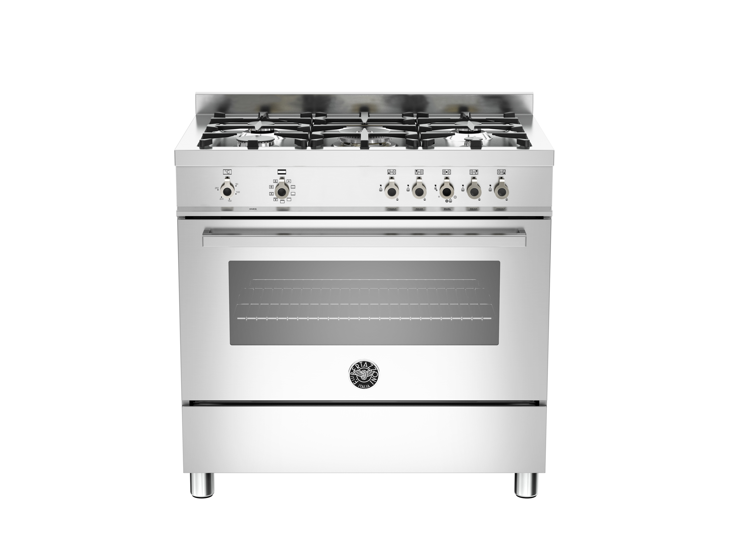 90 cm 5-burner electric oven  | Bertazzoni - Stainless