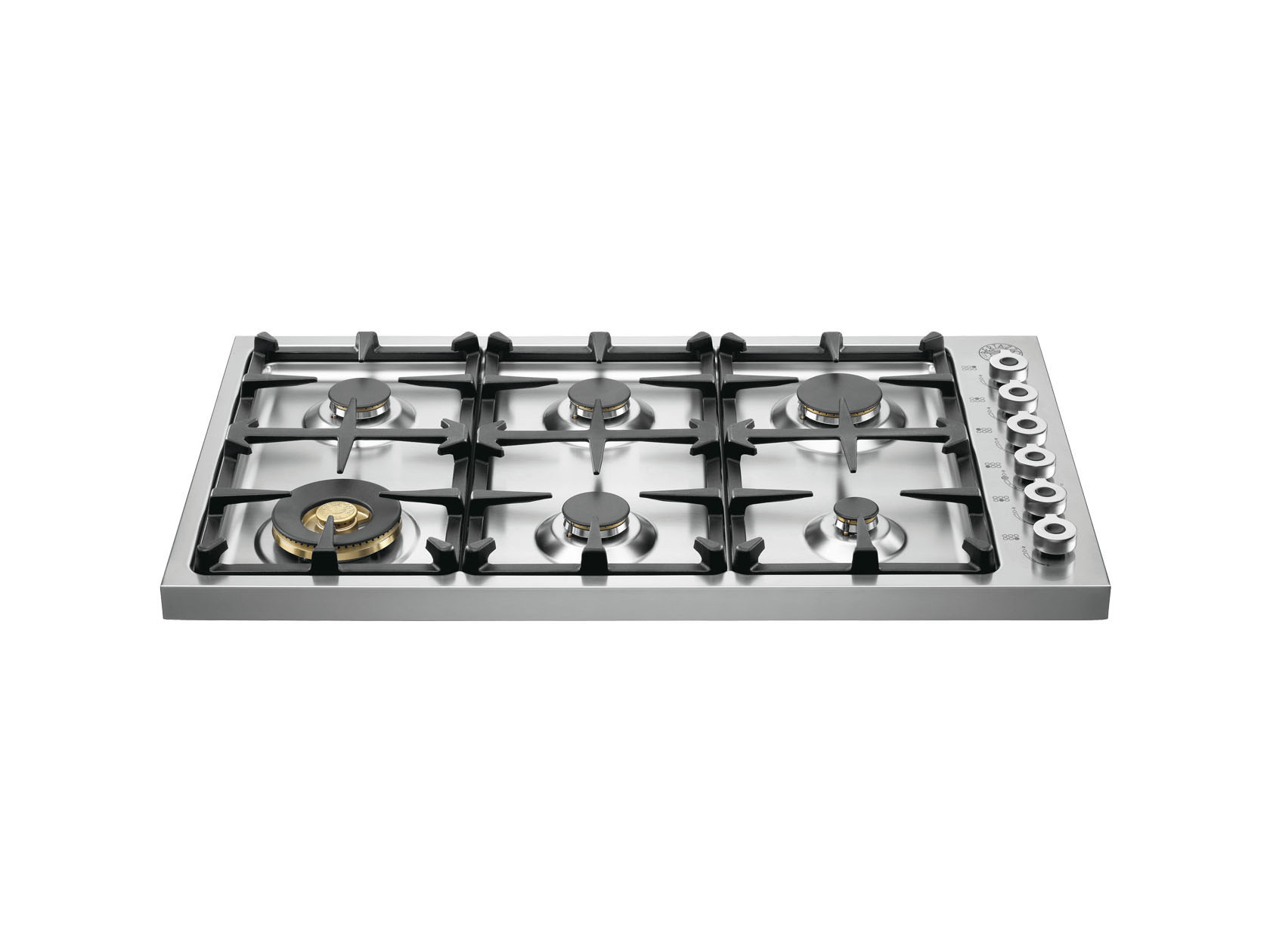 92 6-burner hob, edge 40mm | Bertazzoni - Stainless